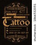 tattoo studio  vintage poster... | Shutterstock .eps vector #1866532051