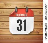 december 31 calendar icon on... | Shutterstock .eps vector #1866532054