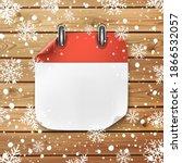 blank calendar icon template on ... | Shutterstock .eps vector #1866532057