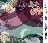 scarf floral pattern. bandana ... | Shutterstock .eps vector #1866534574