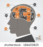 infographics template with head ...