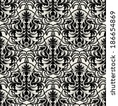 vector damask wallpaper. design ... | Shutterstock .eps vector #186654869