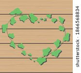 Vector Ivy Branch Heart On...