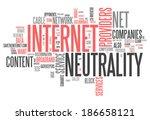 word cloud with internet... | Shutterstock . vector #186658121