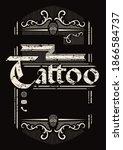 tattoo studio  vintage poster... | Shutterstock . vector #1866584737
