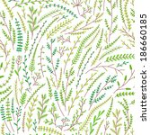 seamless pattern of green...   Shutterstock .eps vector #186660185