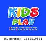 vector funny sign kids play....   Shutterstock .eps vector #1866619591