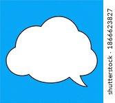 speech bubbles in flat design