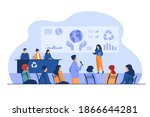 ecological press conference... | Shutterstock .eps vector #1866644281