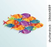 colorful vector fishes. | Shutterstock .eps vector #186664889
