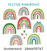 a fun and festive set of... | Shutterstock .eps vector #1866650767