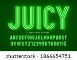 neon light 3d alphabet  extra...   Shutterstock .eps vector #1866654751