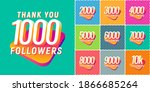 set of numbers for followers...   Shutterstock .eps vector #1866685264