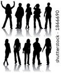 vector silhouettes man and... | Shutterstock .eps vector #1866690
