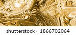 Gold Background. Yellow Convex...