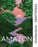 south america vector... | Shutterstock .eps vector #1866705661