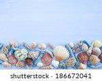 Variety Of Sea Shells And Nail...