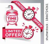set of limited offer labels... | Shutterstock .eps vector #1866724261