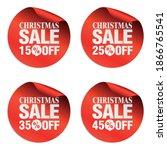 christmas sale stickers set 15  ... | Shutterstock .eps vector #1866765541