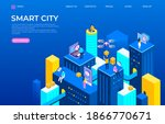 isometric city landing page....