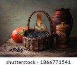 Still Life With Basket Of...