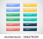 vector web buttons set   Shutterstock .eps vector #186678185