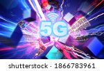 5g on the internet that are... | Shutterstock . vector #1866783961