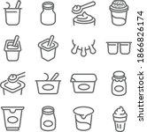 yogurt icon illustration vector ... | Shutterstock .eps vector #1866826174