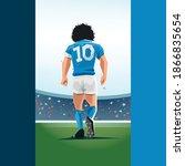 naples flag maradona in a match ... | Shutterstock .eps vector #1866835654