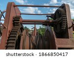 A Big Rusty Pinion Mechanism On ...