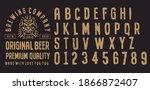 retro set styled label of beer  ... | Shutterstock .eps vector #1866872407