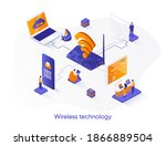 wireless technology isometric...
