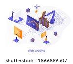 web scraping isometric web...   Shutterstock .eps vector #1866889507