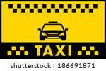 advertise taxi background with... | Shutterstock .eps vector #186691871