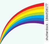 rainbow liquid  background...   Shutterstock .eps vector #1866928177