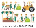 farmer profession characters... | Shutterstock .eps vector #1866939304