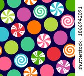 colorful candy seamless pattern ...   Shutterstock .eps vector #1866942091