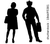 vector silhouette of a people... | Shutterstock .eps vector #186695381