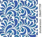 blue abstract seamless  pattern | Shutterstock .eps vector #186697709