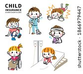illustration of a child getting ... | Shutterstock .eps vector #1866979447
