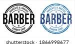barber shop stamp on white... | Shutterstock .eps vector #1866998677