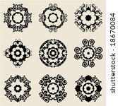 baroque flower icons | Shutterstock .eps vector #18670084