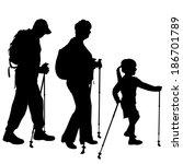 vector silhouette of people...   Shutterstock .eps vector #186701789