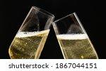 Two Festive Champagne Glasses...