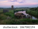 Rural View Of An Abandoned...