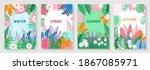 vector set four seasons  winter ...   Shutterstock .eps vector #1867085971