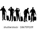 vector silhouette of... | Shutterstock .eps vector #186709109
