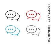 set of message bubble icon.... | Shutterstock .eps vector #1867116034