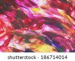 Art Abstract Bright Rainbow Oi...