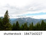 mountain landscape and forest... | Shutterstock . vector #1867163227